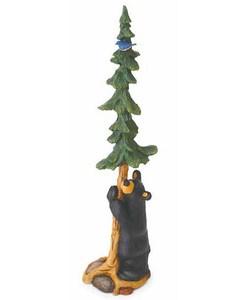 Big Sky Carvers Bear, Bluebird and Tree Figurine