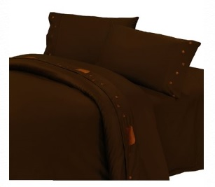 Embroidered Bear Sheet Sets-chocolate