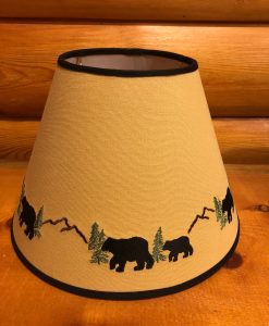 Black Bear Embroidered Lamp Shade