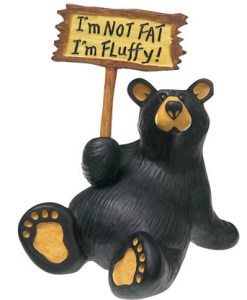 I'm Fluffy Bear Figurine