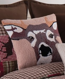 In the Woods Deer Hooked Pillow