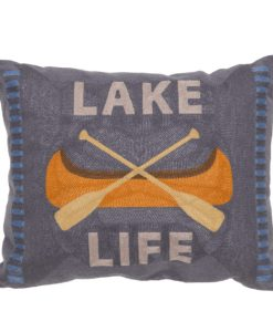 Lake Life Chain Stitch Pillow