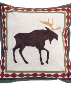 Moose Chain Stitch Pillow