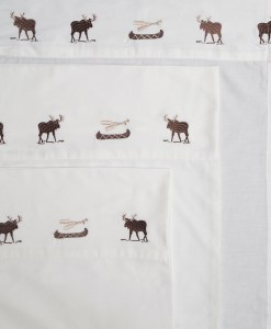Embroidered Moose Sheet Set *ONLINE ONLY*