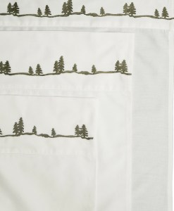 Embroidered Pine Sheet Set *ONLINE ONLY*