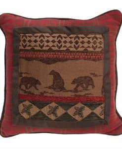 Cascade Lodge Bear Scene Pillow