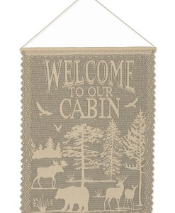 Lodge_Hollow_WallHangingWelcomeCabinForestBearMooseDeer_2