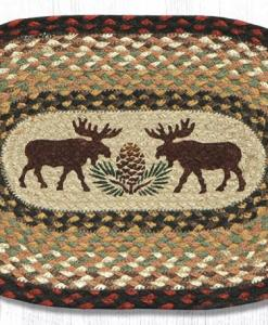 """Moose and Pine 10"""" x 15"""" Oval Braided Swatch"""