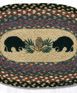 """Bear and Pine 10"""" x 15"""" Oval Braided Swatch"""