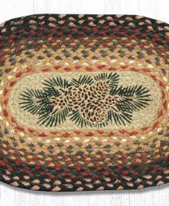 """Pinecone Red Berry 10"""" x 15"""" Oval Braided Swatch"""