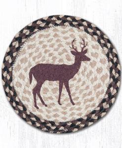 """Little Buck 10"""" Round Braided Trivet"""