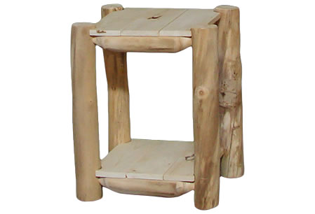 Outdoor Log End Table