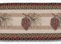"Large Pinecone 13"" x 36"" Braided Runner"