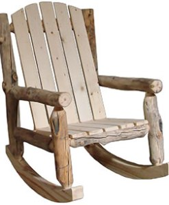 Outdoor Log Rocker