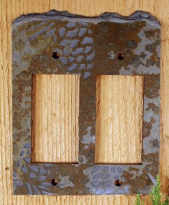 Slate Switch Plate Pinecone Collection