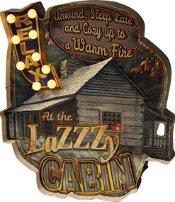 LED Metal Lazzy Cabin Bar Sign