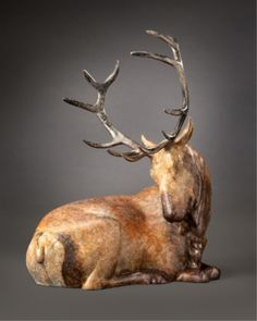 """Summit"" Bronze Elk Sculpture by Joshua Tobey"