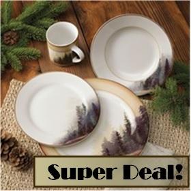 Misty Forest Dinnerware Set - 16pcs