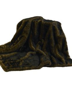 Faux Brown Mink Reversible Throw