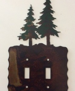 Pine Tree Double Toggle Switch Plate Cover