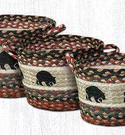 Bear & Pinecone Utility Basket (Multiple Sizes Available)