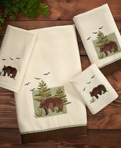 Bear Patch Towel 4 Pc Set