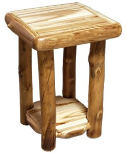 Aspen Log End Table