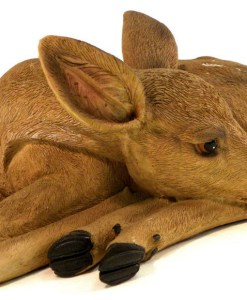 Fawn Deer Lying Down Sculpture