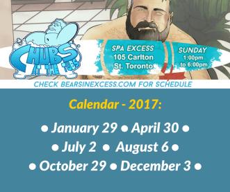Chubs at the Tubs - Calendar