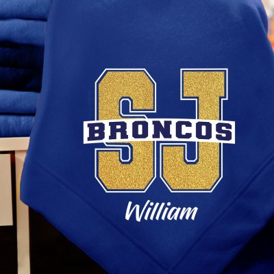 San Juan Broncos Blanket