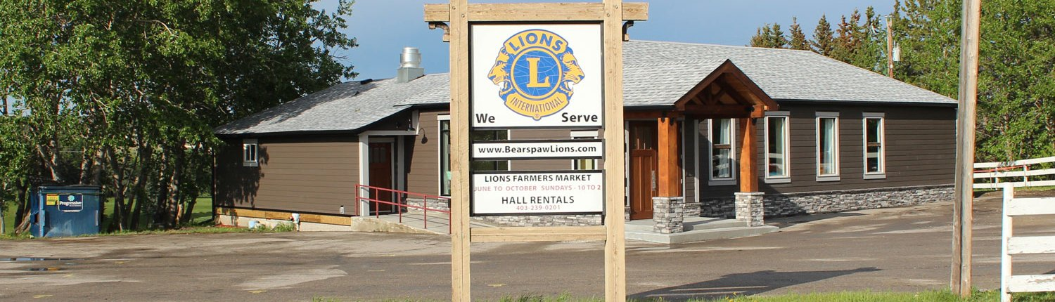 Lions Club of Bearspaw Hall