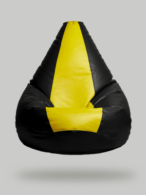 yellow black bean bag cover only