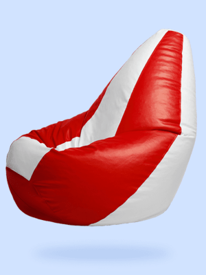 red white bean bag 2