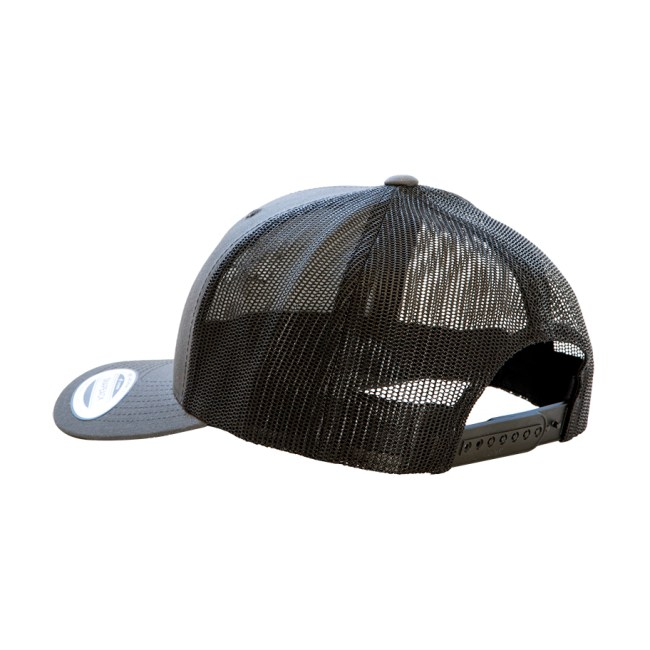 BearThug Snapback Ball Cap - Charcoal/Black Mesh (back)
