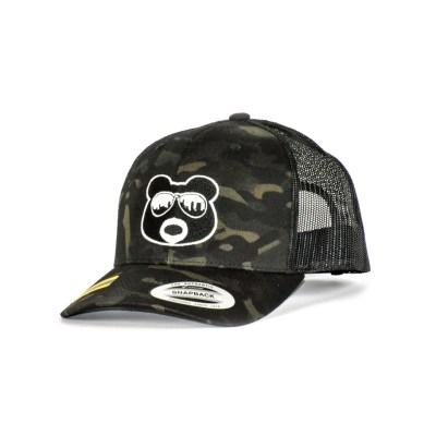 BearThug Ball Caps - Mesh Camo/Black