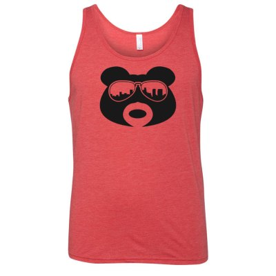 BearThug Heather Red Tank-top