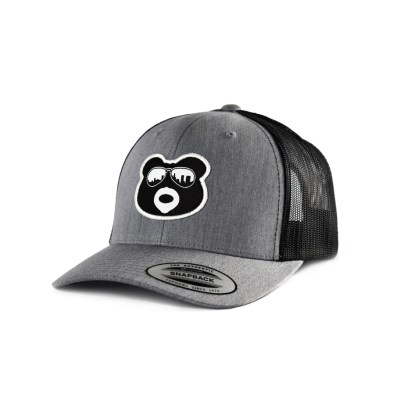BearThug Snapback Ball Caps - Heather Grey/Black Mesh
