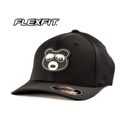 BearThug Flexfit Ball Caps - Black (PVC Patch)