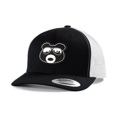 BearThug Snapback Ball Caps - Black/White Mesh (PVC Patch)