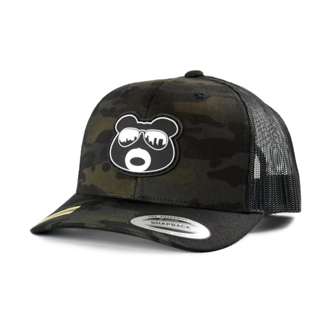 BearThug Snapback Ball Caps - Multicam Black/Black Mesh (PVC Patch)