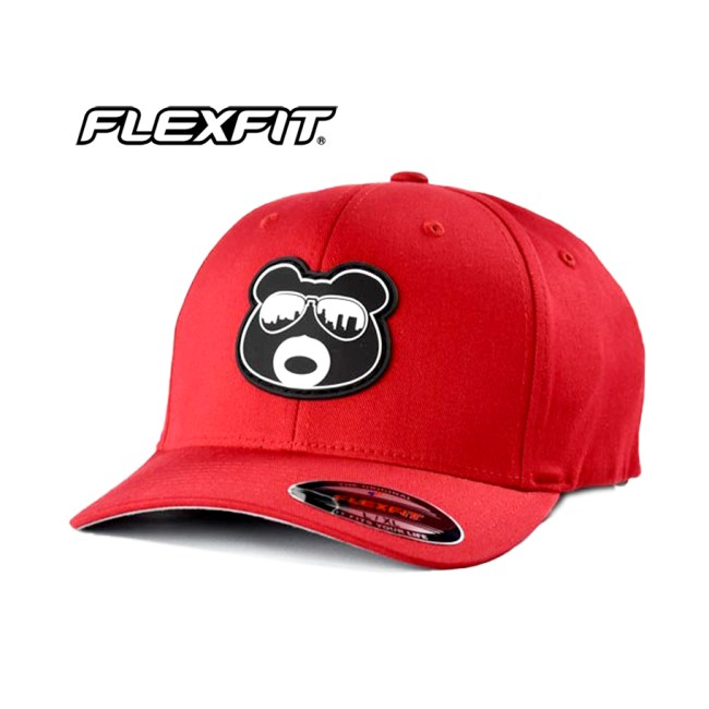 BearThug Flexfit Ball Caps - Red (PVC Patch)