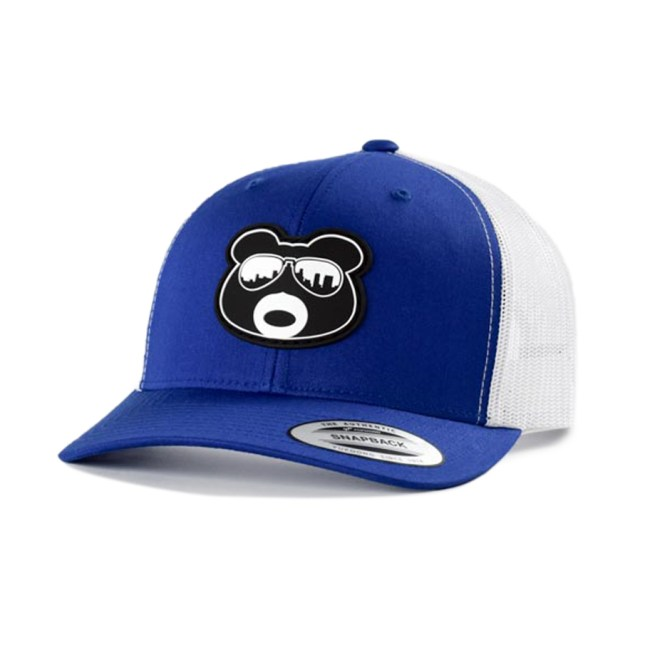 BearThug Snapback Ball Caps - Royal Blue/White Mesh (PVC Patch)