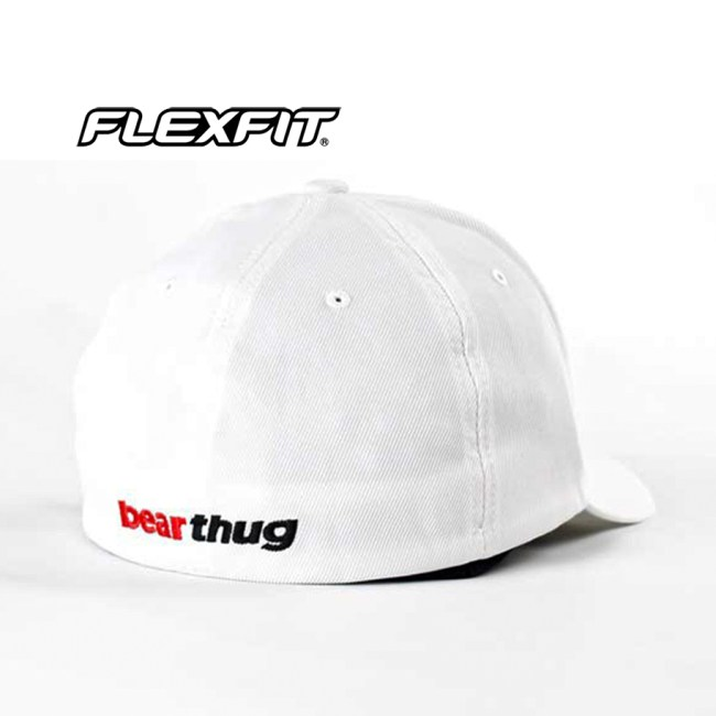 BearThug Flexfit Ball Caps - White (PVC Patch)