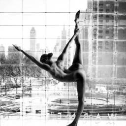 Nude Yoga Girl - Be artist Be art