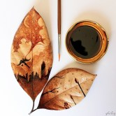 Paints with coffee - by Ghidaq Al Nizar - be artist be art