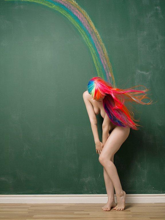Naked Rainbow - by Bruce Walker - be artist be art