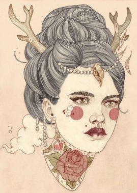 2.0 Beauty Pin-ups - by Liz Clements - be artist be art magazine