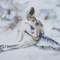 Ballerina Dreams - Watercolour Poetry by Aimee Del Valle @aimeeDVart