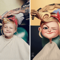 Artist Transforms Random People into Illustrated Characters - MZ09
