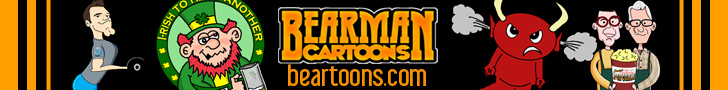 Bearman Cartoons 728x90 Banner Ad